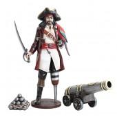 Captain Hook mit Papagei und Kanone