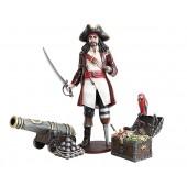 Captain Hook, Kanone und Schatztruhe mit Papagei