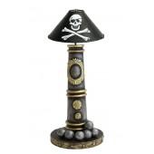Kanonenlampe mit Piraten Lampenschirm klein
