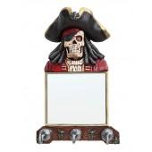 Piratenskelett Spiegel und Garderobe