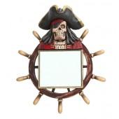Piratenskelett Spiegel mit Steuer