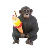 Affe mit Eis