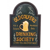 Golf Drinking Society Schild