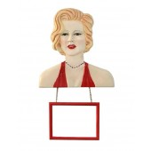 Marilyn Büste mit Angebotsschild