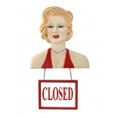 Marilyn Büste mit Open/ ClosedSchild