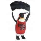 Basketball Pinguin mit Angebotsschild