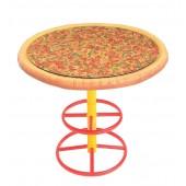 Pizzatisch mit Glasplatte