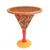 Pizzatisch mit Glasplatte mit Pizzaständer