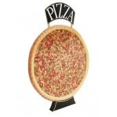 Ganze Pizza Einseitig mit Pizzaschild