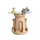Sandburg Tisch mit Glasplatte