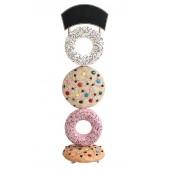 Kekse hell und Donuts mit Angebotsschild