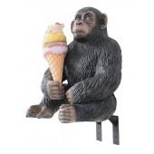 Affe mit Eis und Angebotsschild für für Wand