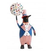 Pinguin amerika mit weißem Keks