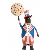 Pinguin amerika mit hellem Keks