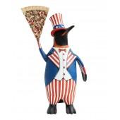 Pinguin amerika mit Pizzastück