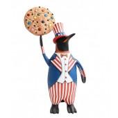 Pinguin amerika mit Keks