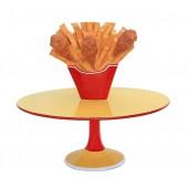 Hühnchen und Pommes Tisch groß
