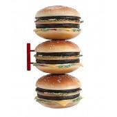 3 Burger für Wand