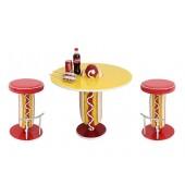 Hot Dog Tisch und Hocker