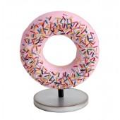 Donut rosa auf kleinem Ständer
