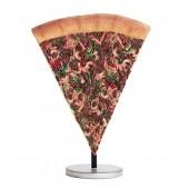 Pizzastück auf kleinem Ständer