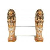ägyptische Sarg Regal mit Glasplatten