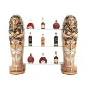 ägyptische Sarg Regal mit Glasplatten und Schränken