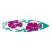 Surfboard Pink Türkis Wanddeko