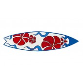 Surfboard Rot Blau Wanddeko
