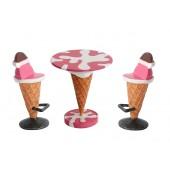 Eistisch Rosa und Eissitze