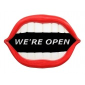 Mund *We are Open* schwarz