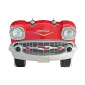 Sitzbank Chevy Rot mit schwarzem Polster