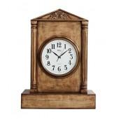 Uhr in Säule mit Goldeffekt