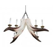 Stierhorn Kronleuchter mit 8 Lichtern