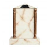 Grabstein mit weißem Marmoreffekt 24