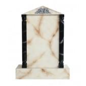 Grabstein mit weißem Marmoreffekt 28