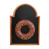 Donut braun auf Angebotstafel