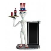 Alien amerika Butler und Angebotstafel 1