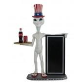 Alien amerika Butler und Angebotstafel 2