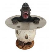 Wütender Gorilla im Ei Tisch