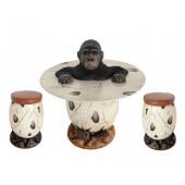 Gorilla im Ei Tisch und Eihocker