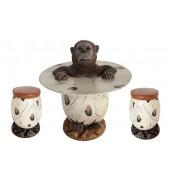 Orangutan im Ei Tisch und Eihocker