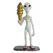 Alien mit goldenem Eis