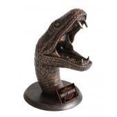 Anakondakopf Bronze mit Visitenkartenhalter