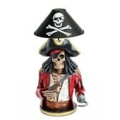 Piratenskelett Lampe rot