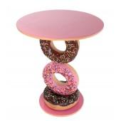 Tisch mit Donutständer Rosa