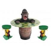 Wütender Gorilla Fasstisch und Bananenhocker