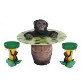 Affe Fasstisch und Bananenhocker