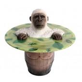 Weißer Gorilla Fasstisch