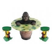 Mürrischer Gorilla Fasstisch und Bananenhocker
